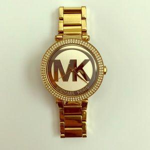 Michael Kors Gold & Diamond crystal watch